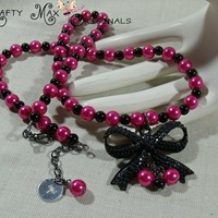 Prima Blog Team Pink and Black New Years Party Necklace Set