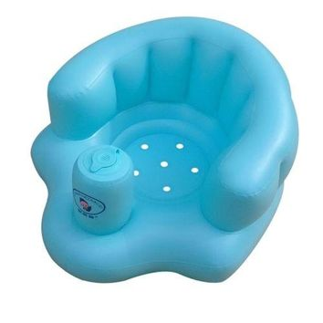 Thick Wide Baby Inflatable Stool Chair Sofa   blue