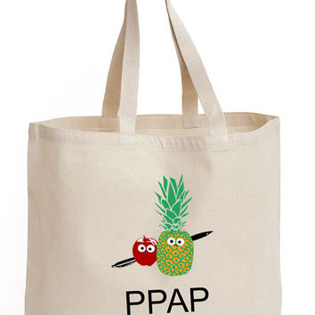 PPAP Pen pineapple apple pen Cotton Tote shopping picnic office school book Bag
