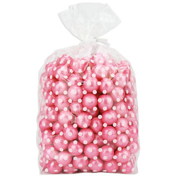 White Polka Dot Gusseted Cello Bags 4x2x9
