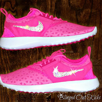 Womens Nike Juvenate Pink Blast/White with hand placed Swarovski crystal detail