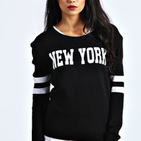 Natalia New York Printed Jumper