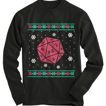 Roll For Crit Ugly Christmas Sweater