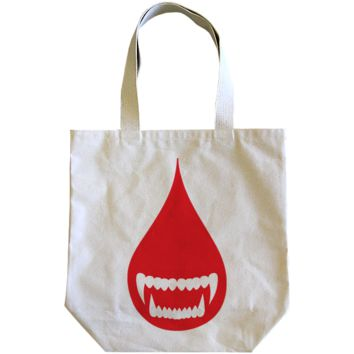Wolves Kill Sheep : Blood Drop Tote Bag
