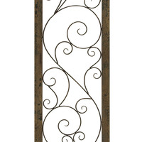 Metal Wood Wall Panel Endowed With Delicate Art Work