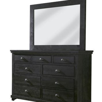 Willow Casual Drawer Dresser Distressed Black