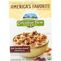 Cascadian Farm Organic Granola - Dark Chocolate Almond Cereal - 13.25 oz - Pack of 6