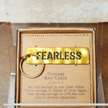 Natural Life Keychain - Courage