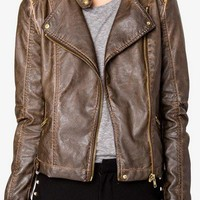 Off-Duty Faux Leather Moto Jacket