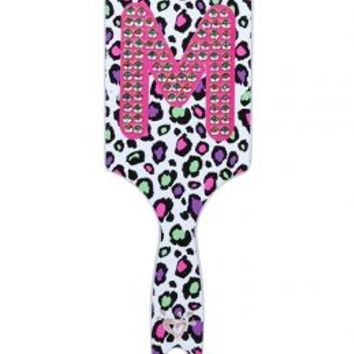Cheetah Rhinestone Initial Hair Brush | Girls Hair & Spa Accessories Beauty | Shop Justice