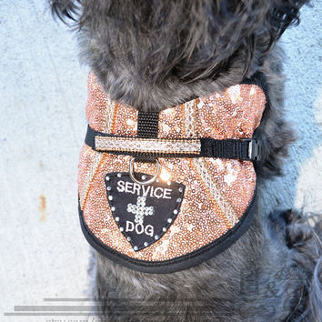 "Special Occasion ""Bling-tastic"" Service Dog vest! Perfect for weddings, prom, and other special occasions!"