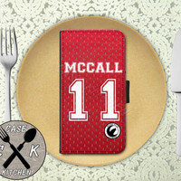 Teen Wolf Inspired Scott Mccall Lacrosse Jersey Tyler Posey Custom Wallet Phone Case For The iPhone 4 and 4s and iPhone 5 and 5s and 5c
