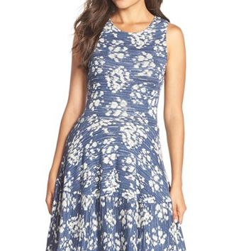 Women's BCBGMAXAZRIA 'Cassandra' Jacquard Fit & Flare Dress