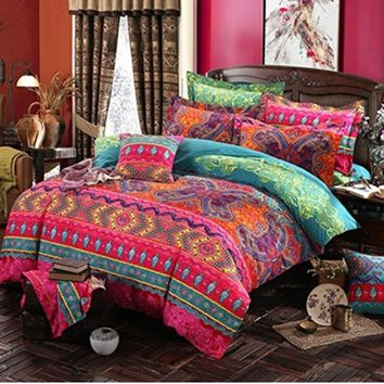 Cool Bohemian 3d comforter bedding sets Mandala duvet cover set winter bedsheet Pillowcase queen king size Bedlinen bedspreadAT_93_12