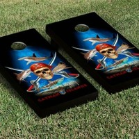 GIFTS & HOME > OUTDOOR > CORNHOLE BOARDS > PIRATE SHARK CORNHOLE SET