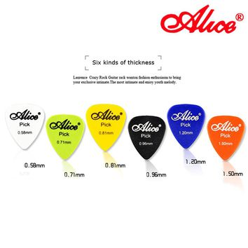 Alice 50pcs Acoustic Electric Guitar Picks 1 Box Case Alice Guitar Accessories Musical Instrument Thickness Mix 0.58-1.5