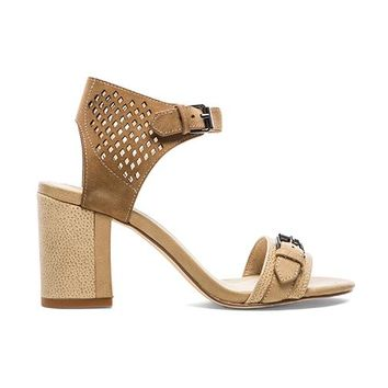 SOLES X NUDE Citation Open Toed Heel in Beige