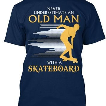 Old Man With A Skateboard