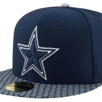 ESBON NFL Dallas Cowboys New Era 59Fifty Sideline Fitted Hat