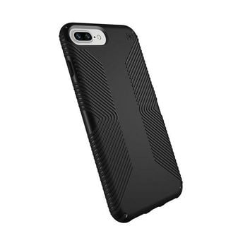 LMFXT3 Speck Products Presidio Grip Case for iPhone 8 Plus (Also fits 7 Plus and 6S/6 Plus), Black/Black