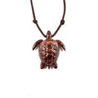 Sea Turtle Necklace, Mens Turtle Necklace, Sea Turtle Pendant, Wood Turtle Pendant Necklace, Nautical Jewelry, Mens Jewelry, Turtle Jewelry