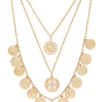 Medallion Layered Necklace | Forever 21 - 1000186496