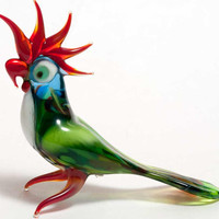 Glass Parrot Hand-Blown  Figurine