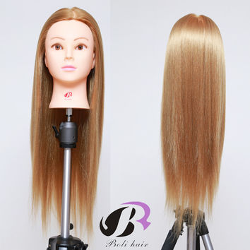 mannequin head for makeup practice 100%high temperature fiber hair mannequin head hairdressing training heads