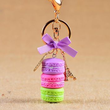 37217ebd60fb New Cake Key chain fashion car Key Ring Women bag charm accessor. keyring  ...