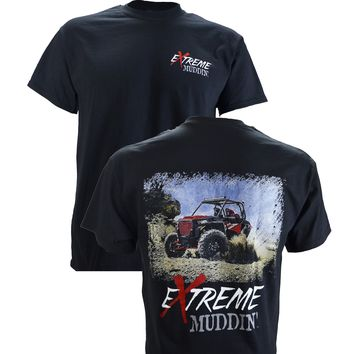 Extreme Muddin' Side by Side on a Black T Shirt