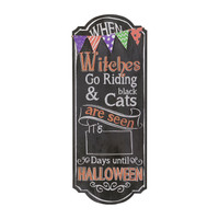 Halloween Countdown Chalkboard Sign