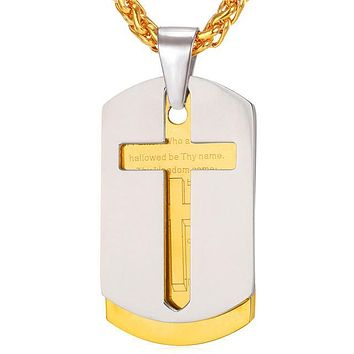 Hallowed Be Thy Bling Cross Necklace