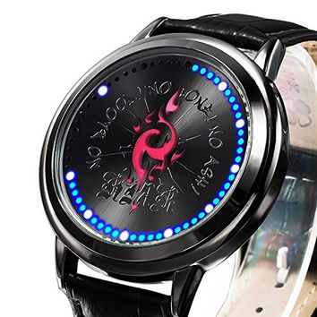 ZRDTH Punk Style Watch Anime K Project Homra Insignia Collector's Edition Touch Screen LED Watch