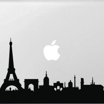Eiffel tower Skyline City Sticker for Apple Macbook Air 11 12 13 Pro 13 15 17 Retina Vinyl Decal Car Laptop Multi Skins