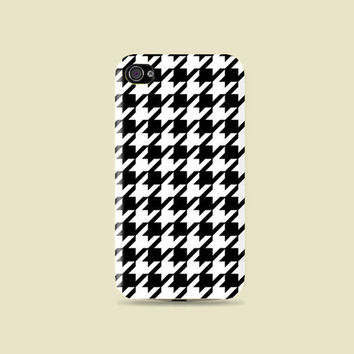 Classy Style // Houndstooth printed Hard Case - iphone 5 - iphone 4 - iphone 4s - Samsung S3 - Samsung S4 - Samsung Note 2