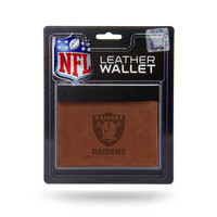 Oakland Raiders Leather Embossed Trifold Wallet