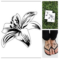Flower - temporary tattoo (Set of 2)