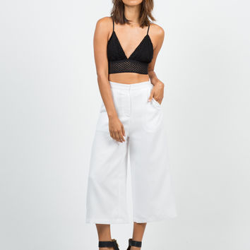 Wide Culotte Pants