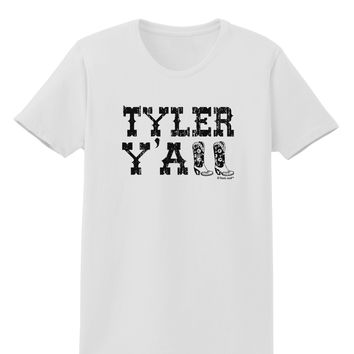 TooLoud Tyler Y'all - Southwestern Style Womens T-Shirt