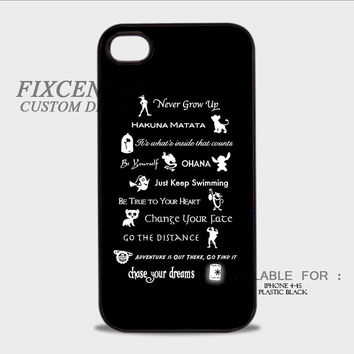 Disney Lesson Learned MashUp Quote Plastic Cases for iPhone 4,4S, iPhone 5,5S, iPhone 5C, iPhone 6, iPhone 6 Plus, iPod 4, iPod 5, Samsung Galaxy Note 3, Galaxy S3, Galaxy S4, Galaxy S5, Galaxy S6, HTC One (M7), HTC One X, BlackBerry Z10 phone case design