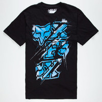 Fox Grindage Mens T-Shirt Black  In Sizes