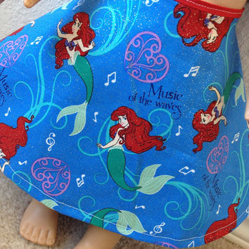 Disney Princess Ariel skirt : fits most 18 in dolls