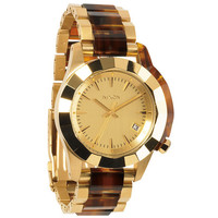 Nixon The Monarch Watch Gold/Molasses One Size For Women 22192640101