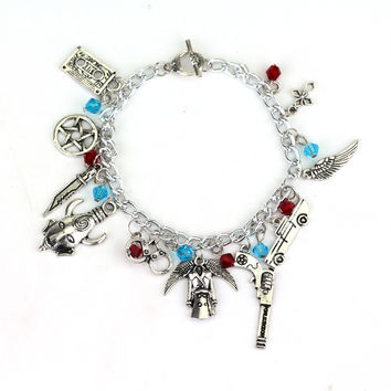 Hot sale Supernatural inspired charm Bracelet tv jewelry dean sam davils protection winchester Deluxe Fandom Souvenir gifts