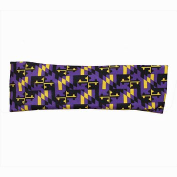Purple & Gold Maryland Flag (Style 3) / Headband
