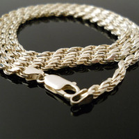 Long Rope Chain, Silver Necklace, 30 Inch Necklace, Sterling Necklace, 925 Necklace, Silver Rope, Sterling Rope, 925 Rope, 925 Rope Necklace