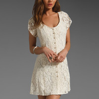 Beyond Vintage Lace Button Down Dress in Ivory from REVOLVEclothing.com