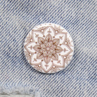 Mandala 1.25 Inch Pin Back Button Badge