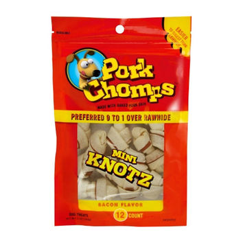 Pork Chomps Mini Knotz - Bacon