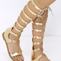 Chinese Laundry Galactic Gold Tall Gladiator Sandals